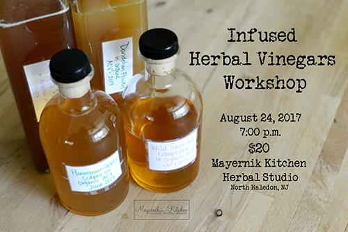 Infused Herbal Vinegar Workshop