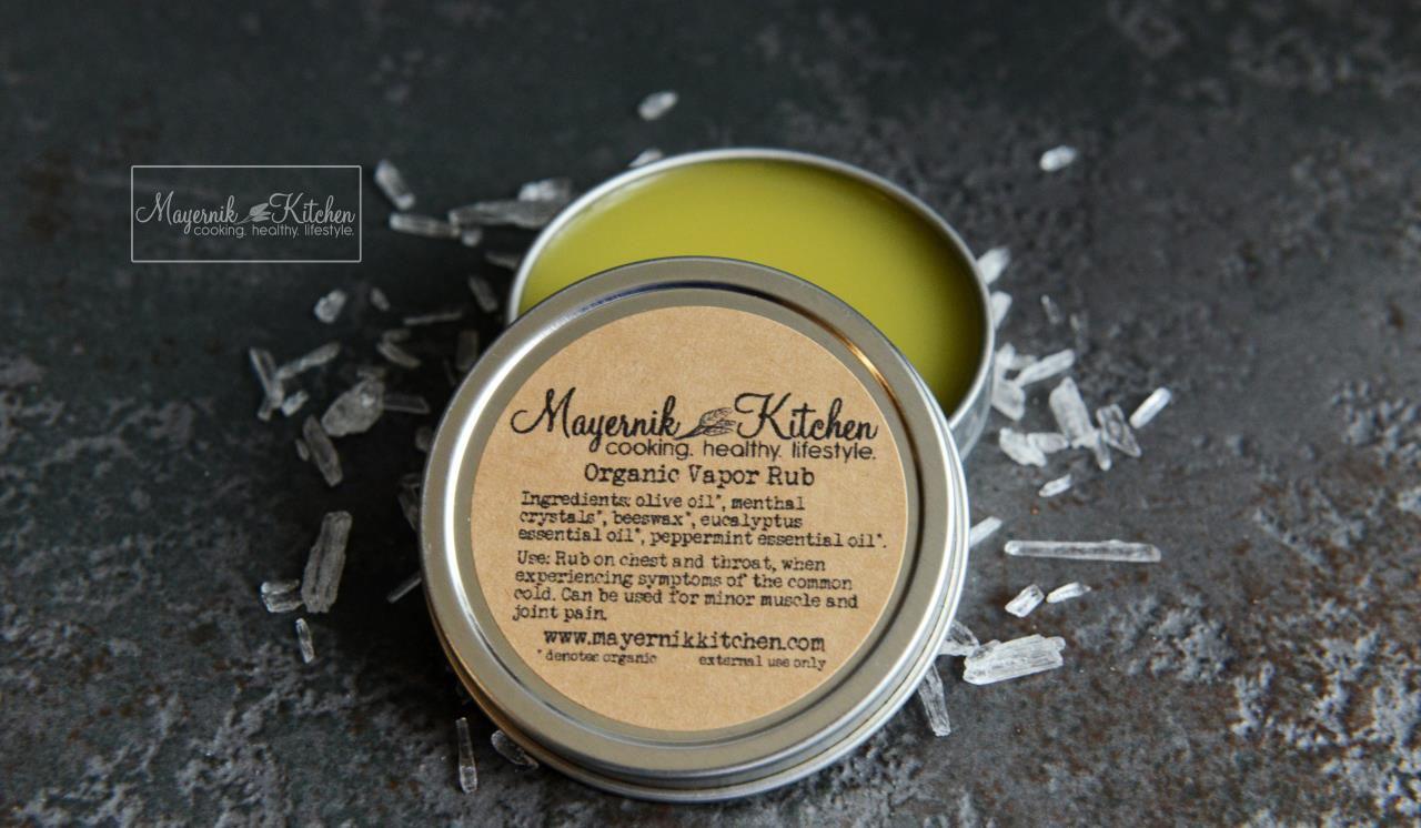 Homemade Organic Vapor Rub - Mayernik Kitchen