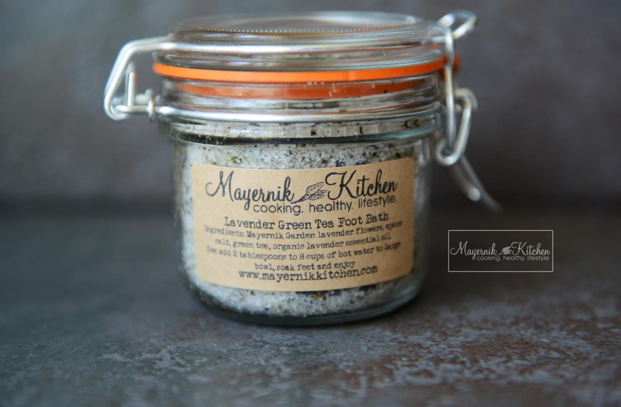 Homemade Lavender Green Tea Foot Bath - Mayernik Kitchen