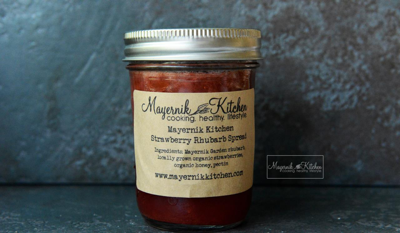 Homemade Strawberry Rhubarb Spread - Mayernik Kitchen