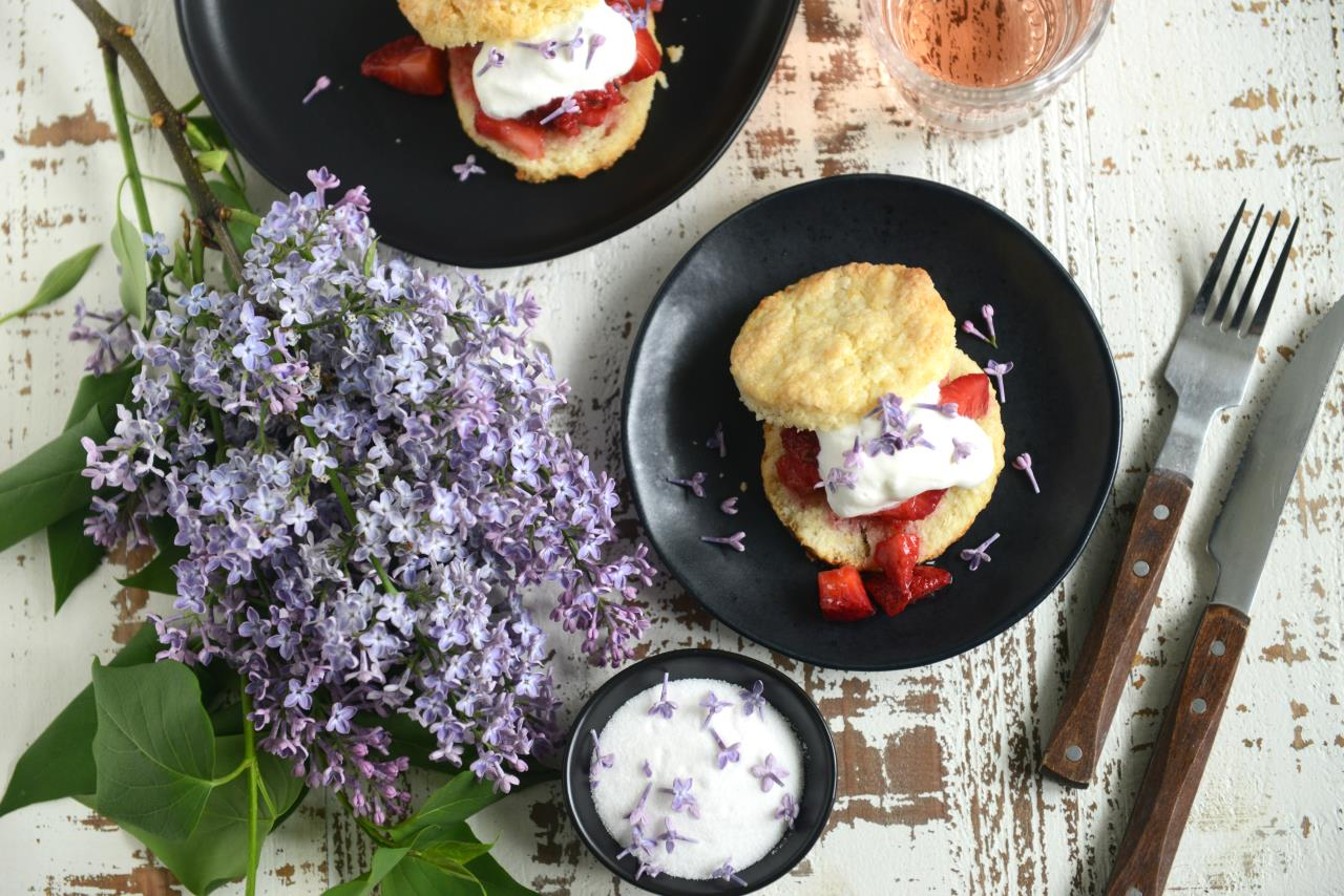 Lilac Sugar Strawberry Shortcake