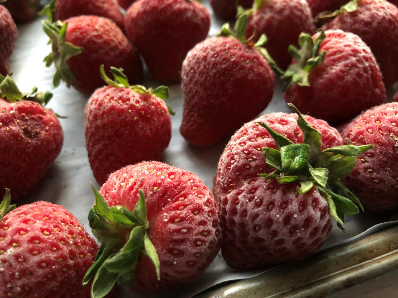 Frozen Strawberries - Preserving - New Jersey Farm
