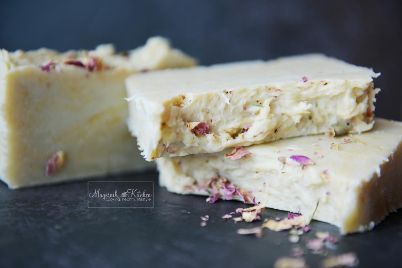 Homemade Vegan Soap - Geranium & Rose - Mayernik Kitchen