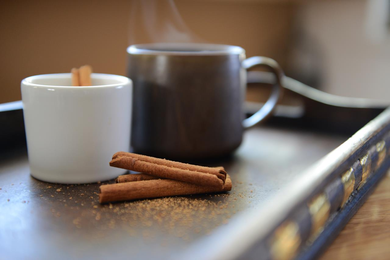 Hot Coffee with Cinnamon Sticks - Mayernik Kitchen