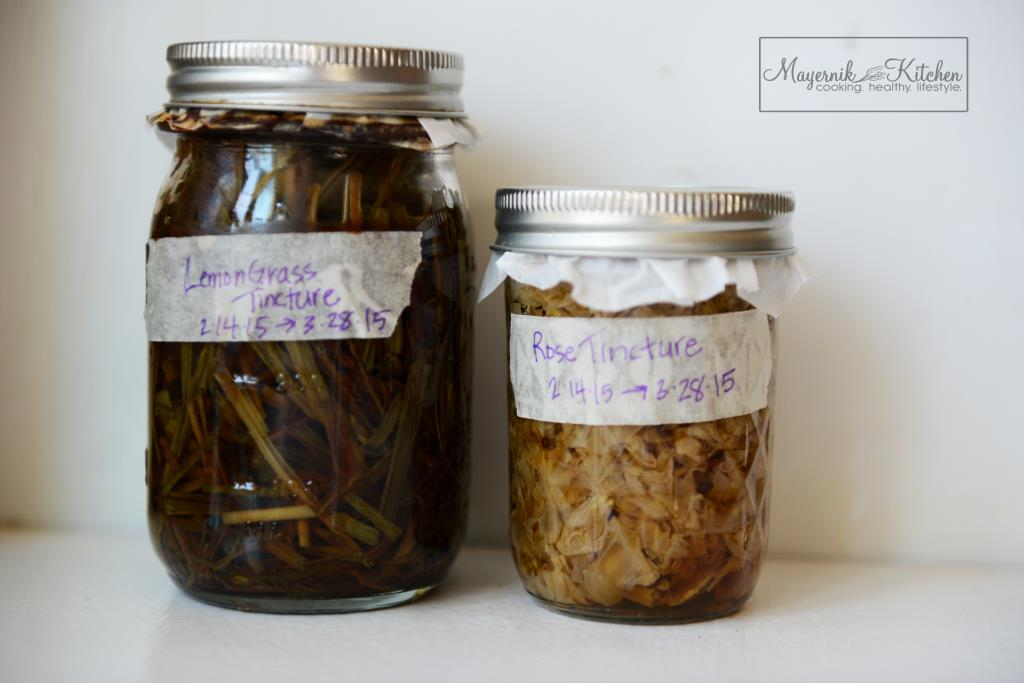 Lemongrass Tincture - Rose Tincture - Mayernik Kitchen