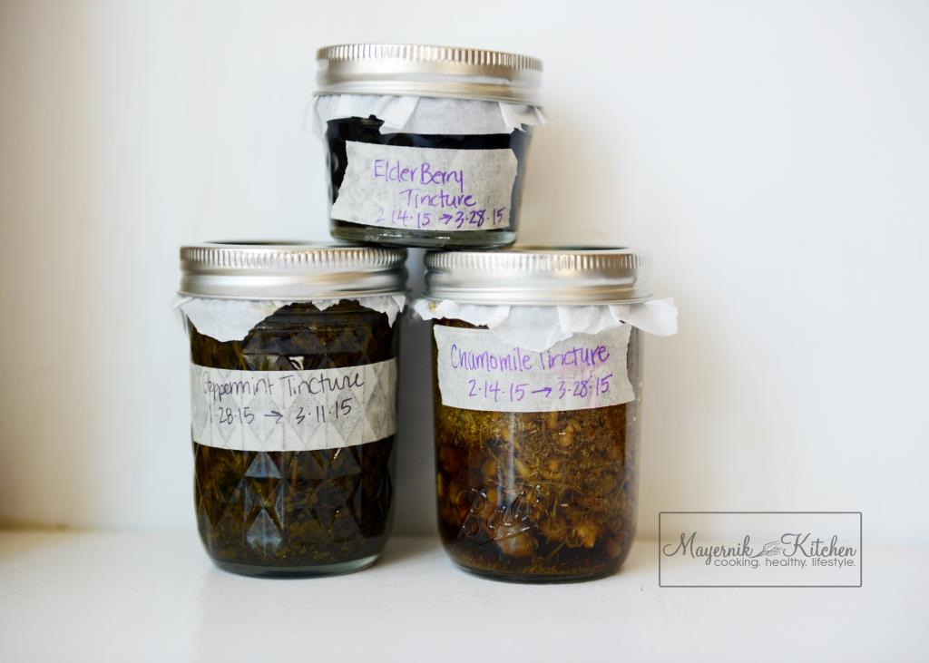 Elderberry Tincture - Peppermint Tincture - Chamomile Tincture - Mayernik Kitchen