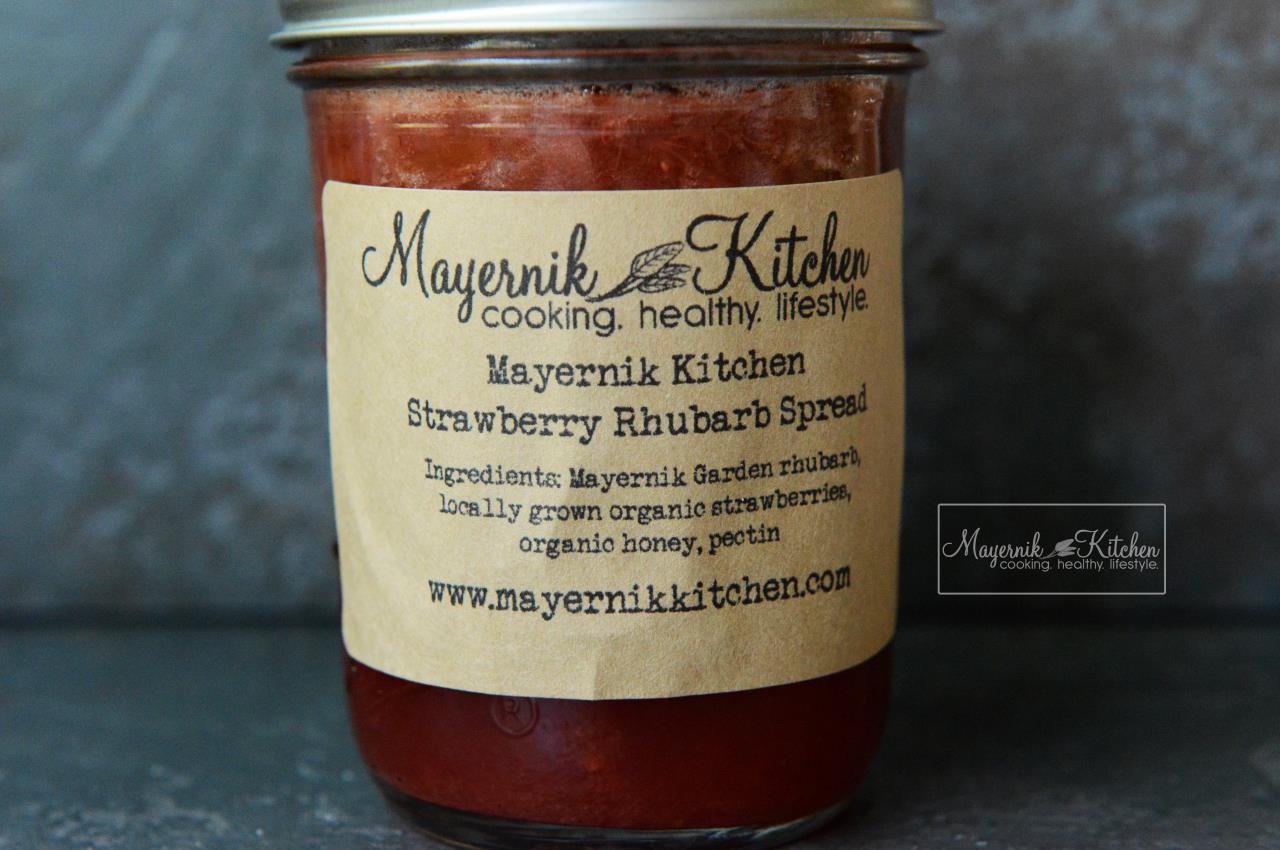 Homemade Strawberry Rhubarb Spread - Mayernik Kitchen #mayernikkitchen