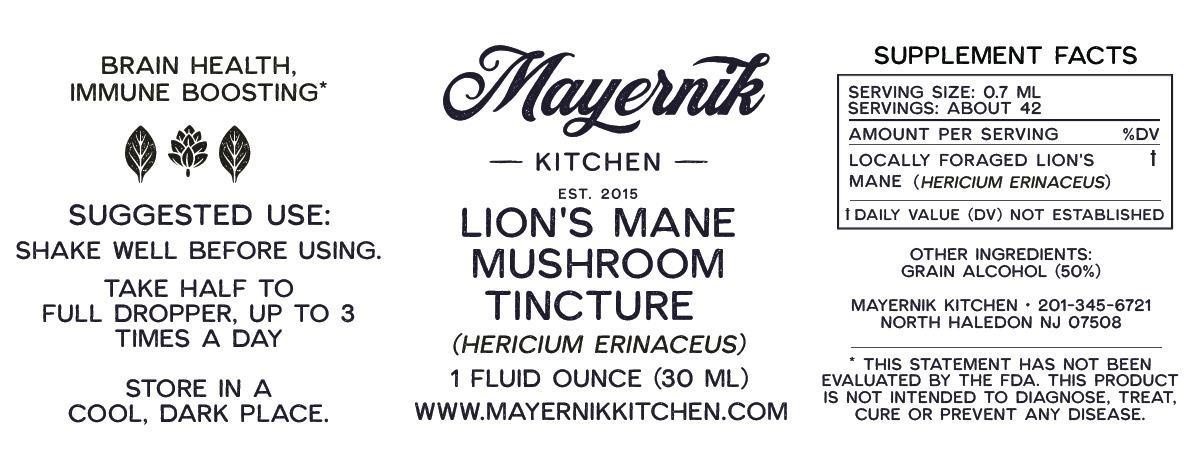 Lion's Mane Mushroom Tincture