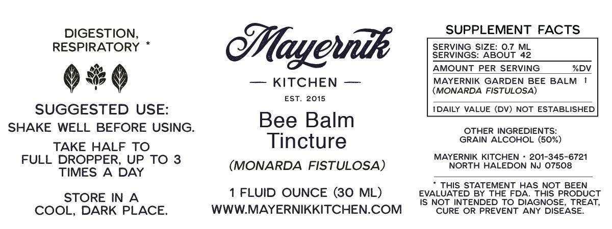 Bee Balm Tincture