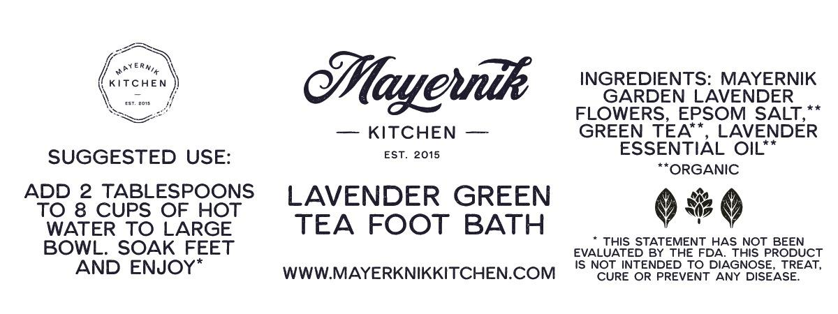 Lavender Green Tea Foot Bath