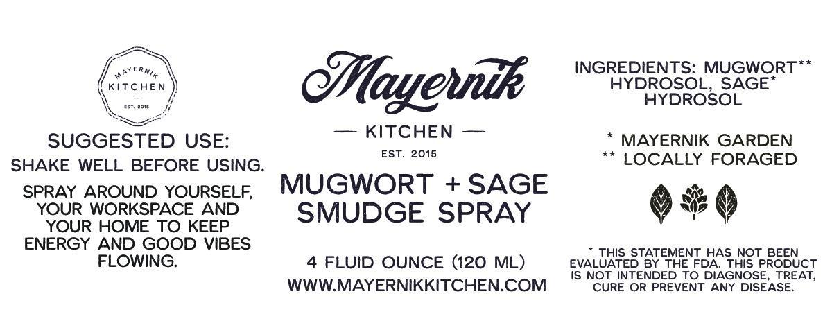 Mugwort Sage Smudge Spray