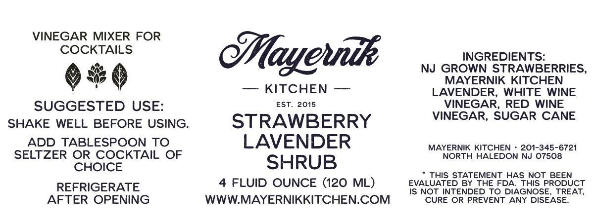Strawberry Lavender Shrub