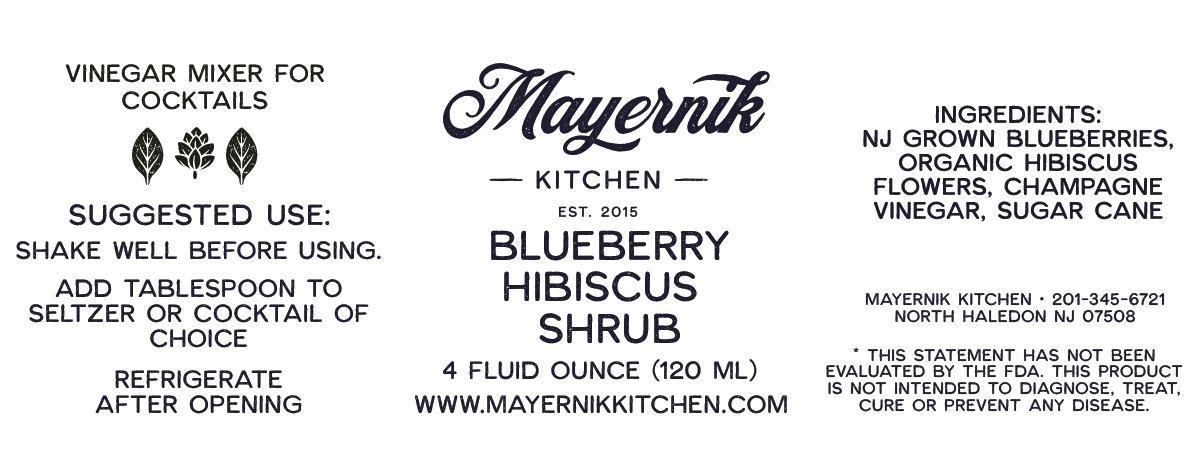 Blueberry Hibiscus Shrub